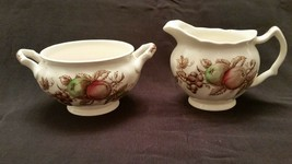 Johnson Brothers Harvest Time Brown Ironstone Sugar Bowl and Creamer Set- Made i - $19.80