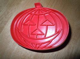 Vintage 1970's Tupperware Red Plastic Pumpkin Cookie Cutter - $5.99