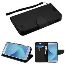 For Samsung GALAXY J3 V Star 2018 Leather Flip Wallet Case Cover Magnet Black - $7.43