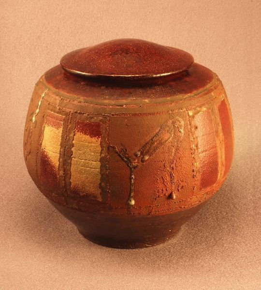 RAKU Unique Ceramic Individual Adult Funeral Cremation Urn #A003