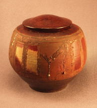 RAKU Unique Ceramic Individual Adult Funeral Cremation Urn #A003 image 1