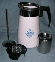 Vtg Corning Ware BLUE CORNFLOWER Stove Top 9 Cup Coffee Pot /Percolator ... - $32.95