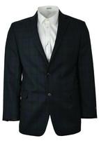 Brooks Brothers Blue Green Plaid Regent Fit Wool Blazer Jacket Sz 42R 00... - $176.22
