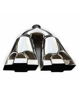Exhaust Tip 2.50 In Inlet 10.00 Inch Wide 4.75 outlet Dual Bowtie Polish... - $69.29
