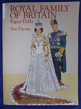 Royal Family Of Britain Paper Dolls Tom Tierney Dover Publications 1994 - $12.86