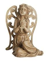 Northlight 14.5IN Inspirational Sitting Angel Cross Outdoor Patio Garden... - $38.11