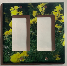 Yellow Flowers flower Light Switch Outlet wall Cover Plate Home decor image 2