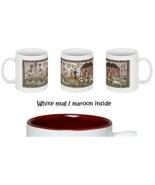 CLEARANCE Never Let You Go Sampler White/Maroon two tone 11 oz ceramic mug  - $9.00