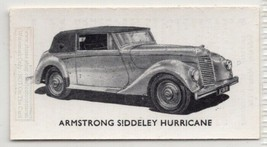 Vintage Armstrong Siddeley Hurricane Cuope Car Auto 1950s Ad Trade Card - $4.21