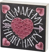 Primitives By Kathy, Chalk Sign - Heart Happy - $10.11