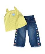 Gymboree Vintage Mermaid Magic Clam Top & Capri Pants Outfit Set 4T - $14.40
