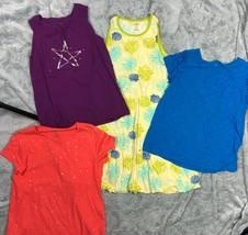 LANDS END KIDS Summer Tops Lot Sleeveless Tank Dress T-Shirt Girl's Size 14  image 2
