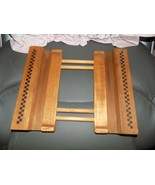 Pampered Chef Stoneware Wooden Trivet Adjustable Carry Cooling Rack Tray... - $36.00