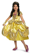 Girl's Size 7-8 Gold Lame' Belle Costume Officially Licensed Disney Prin... - ₨2,524.97 INR