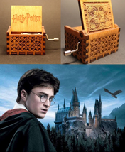 Harry Potter Music Box Engraved Wooden Music Box Xmas Gifts Interesting ... - $15.90