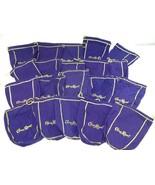 "Lot of 50 Crown Royal 750ml Purple & Gold Drawstring Bags 9"" Medium Size - $52.25"