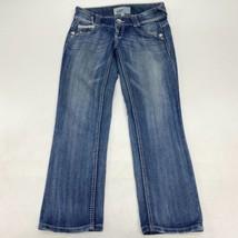 Jolt Denim Jeans Women's Size 1 Blue Faded 5-Pocket Straight Leg Regular... - $18.95