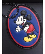 NWOT COACH Disney X Mickey OVAL WINKING Leather HANG TAG Bag CHARM Key 5... - $29.99