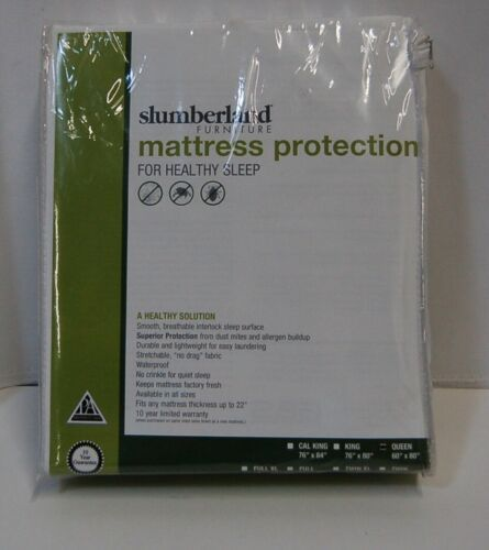 Slumberland Queen Size Mattress Protection White Smooth Breathable