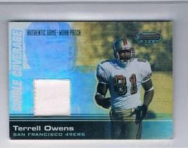 2003 Bowman's Best Single Coverage Jerseys #SCRTO Terrell Owens MEM  - $29.65