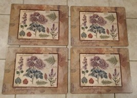 Vintage 4 Pimpernel Placemats  Traditional North American Wildflowers - $19.34