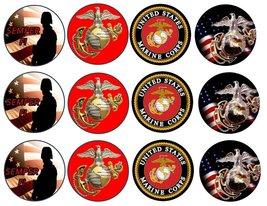 12 US Marines Corp Custom Edible Cupcake or Coo... - $9.99
