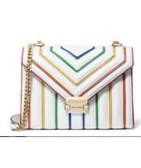 Michael Kors Whitney Large Rainbow Convertible Shoulder Bag Optic White/... - $290.00