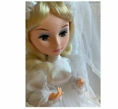 Vintage Bradley Dolls Soft Face Wedding March White Bridal Gown Electric - $89.09