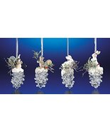 Club Pack of 16 Icy Crystal Christmas Squirrel & Rabbit Pinecone Ornamen... - $132.16