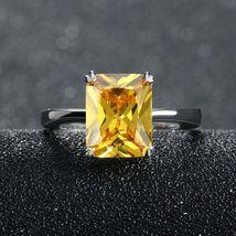 OrsaJewels® Luxury Zircon Ring Earring Set With 4 Carat Cut Yellow image 4
