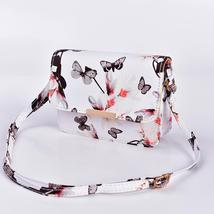 Women Floral Shoulder Bag Small Messenger Bag Retro Butterfly Clutch Tote Purse image 12