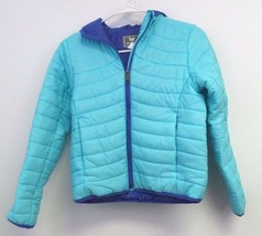 New Girl's White Sierra Zephyr Insulated Jacket -Size: M- Color: Blue Ra... - $14.70