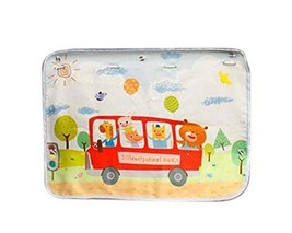 Set of 2 Car Curtains Creative Sunshades Curtains Sunshades, Red Bus
