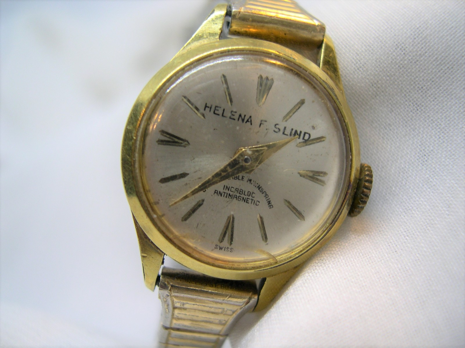 Primary image for L70, HELENA F. SLIND, Ladies Vintage Watch, Incabloc, Anti mag, Flex Band