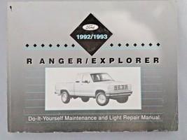 1992 - 1993 Ford Ranger & Explorer Diy Maintenance And Light Repair Manual - $14.01