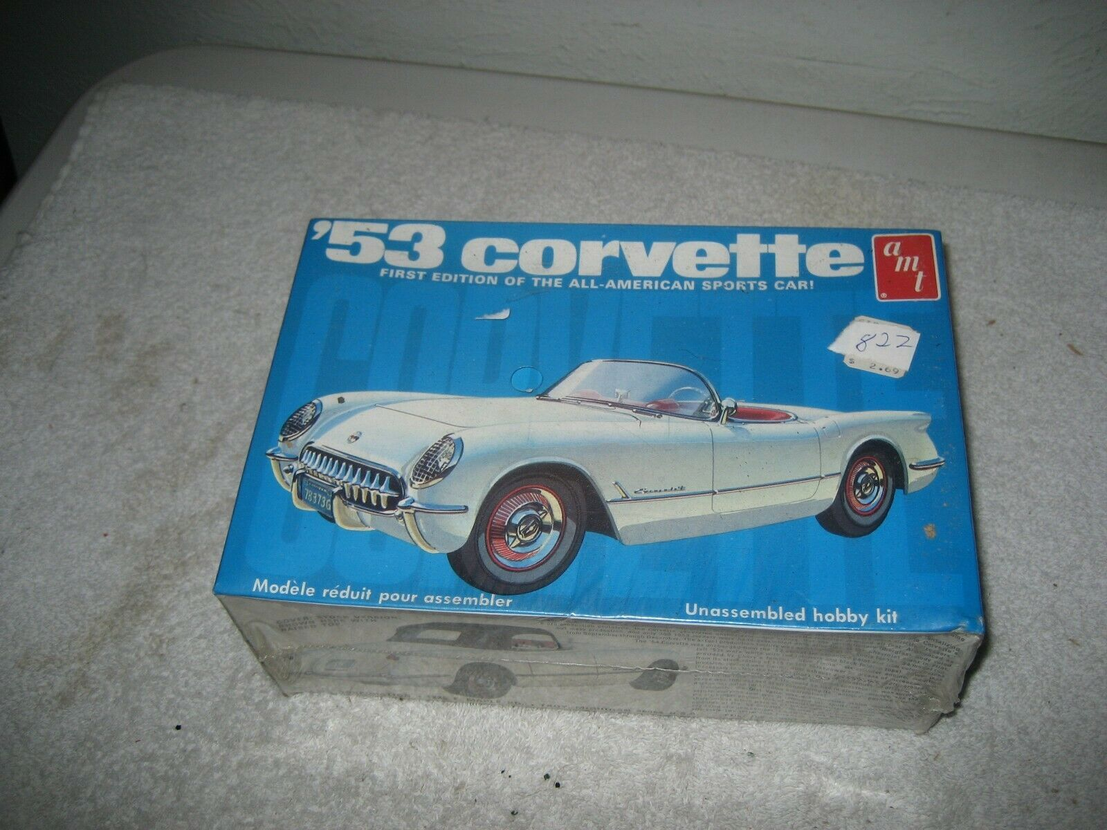Primary image for AMT 53 Corvette #T310 1/25 Model Kit vintage original