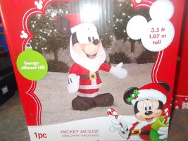 Gemmy Industries  Air Blown Inflatable Mickey Mouse Santa, 3.5' - $39.99