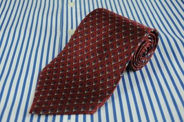 Bill Blass NEO Men's Red & Blue Geometric Printed Silk Necktie 59 x 4 in. - $8.99