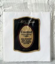 "MCG Textiles 18 Count Aida Cross Stitch Fabric - White 100% Cotton 12"" x... - $5.65"