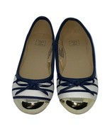 Janie and Jack Blue Stripe Shoes w/ Gold Toes Sz 10 NWOT - $33.60