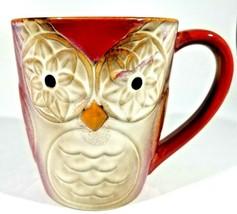"Gibson Home Owl City Coffee Mug Embossed Owl Shape Mug Elite Couture 4 1/2"" (A) - $10.40"