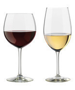 Set of 12 Libbey Vineyard Assorted Red and White Wine Clear Glasses New - £29.74 GBP