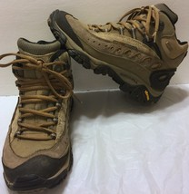 Merrell Pulse II Waterproof Mid Loden Taupe Hiking Boots Size 6.5 Trail Brown - $71.52