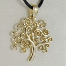 18K YELLOW GOLD TREE OF LIFE PENDANT, CHARM, 0.95 INCHES, 24 mm, MADE IN ITALY  image 1