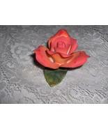 Vintage Capodimonte Porcelain China Orange Yellow Rose Vanity NICE - $64.35