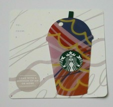 Starbucks 2017 Summer Frappuccino Coffee Cup $0 Value Gift Card Die Cut New Mint - $7.99