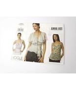 Vogue Pattern V2850 Plus Size 18 20 22 Shirt Blouse Frills Anna Sui Desi... - $12.99