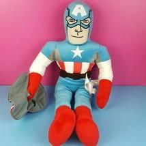 "Marvel Avengers Plush Captain America Doll Stuffed 24"" Superhero Jay Franco  - $24.74"
