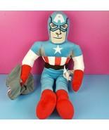 """Marvel Avengers Plush Captain America Doll Stuffed 24"""" Superhero Jay Fra... - $24.74"""