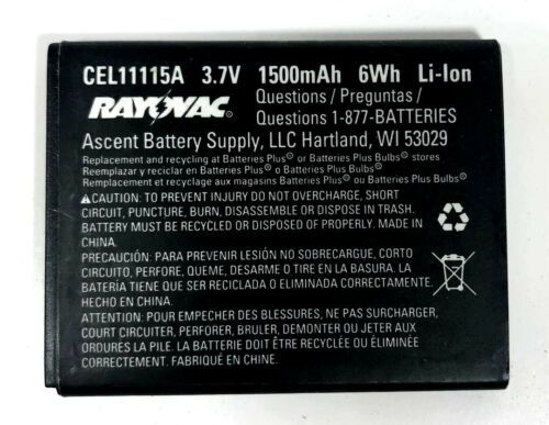 Primary image for RAYOVAK CEL11115A Replacement Battery 1500mAh